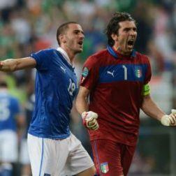 Gianluigi Buffon celebra la clasificación italiana